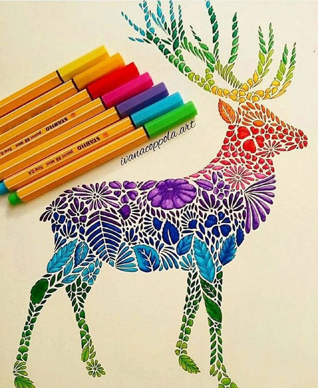 мастеров картинки рисовать фломастерами и карандашами создании интерьера