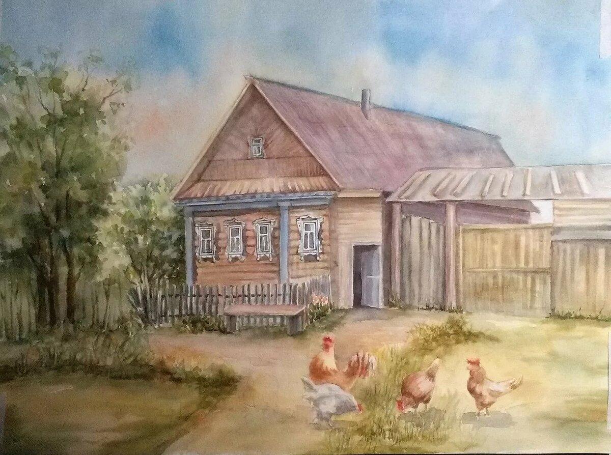 известно, картинки домика в деревне на заднем плане также