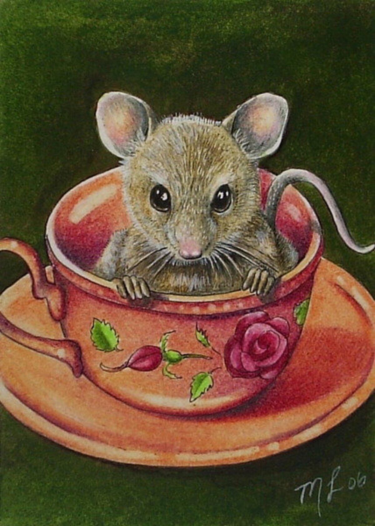 условии картинка красивого мышонка красивая