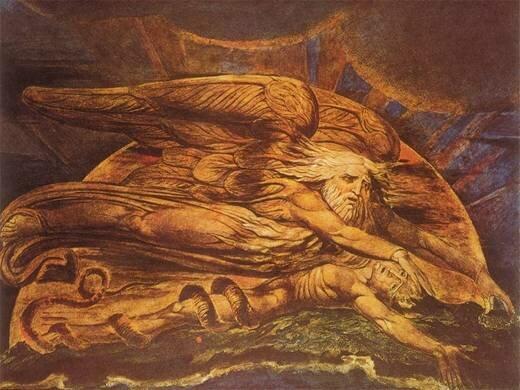 «Сотворение Адама» иллюстрация Уильяма Блейка