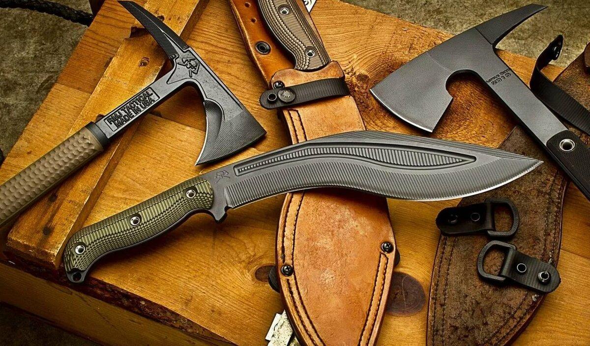 Фото боевых ножей и топоров