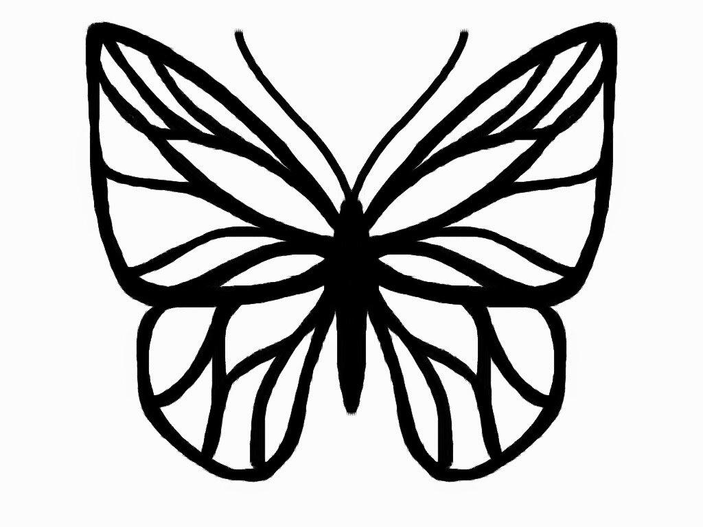 Трафарет бабочка картинка