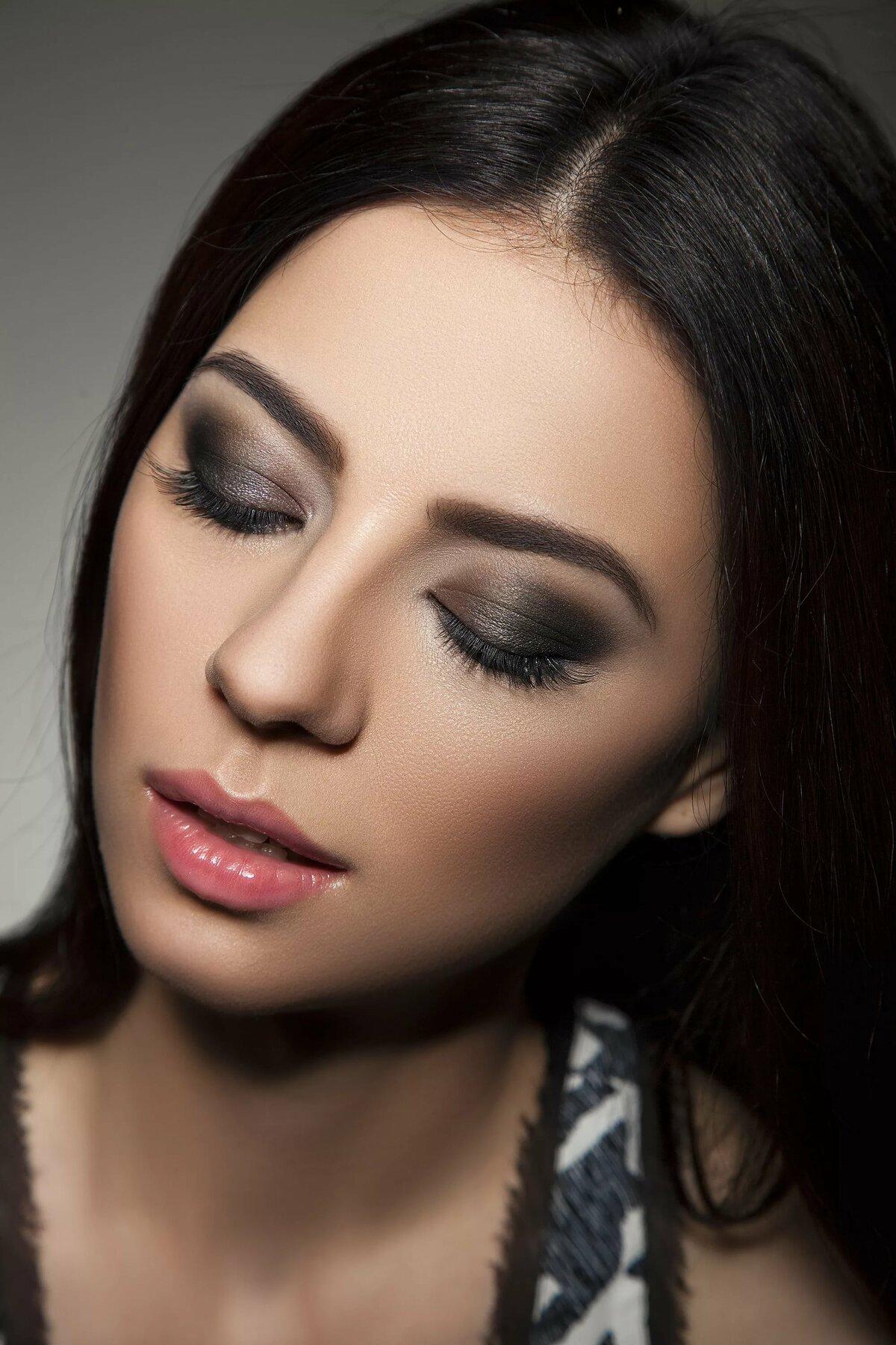 вечерний макияж фото в картинках после проведения