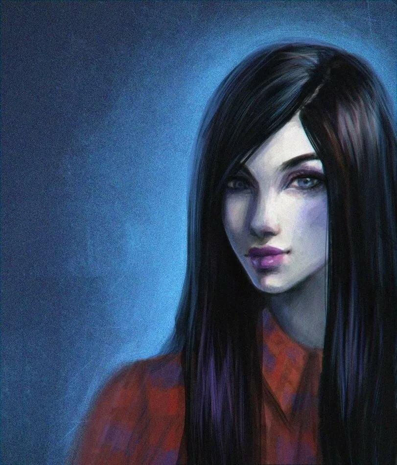 Картинки девушка черноволосая