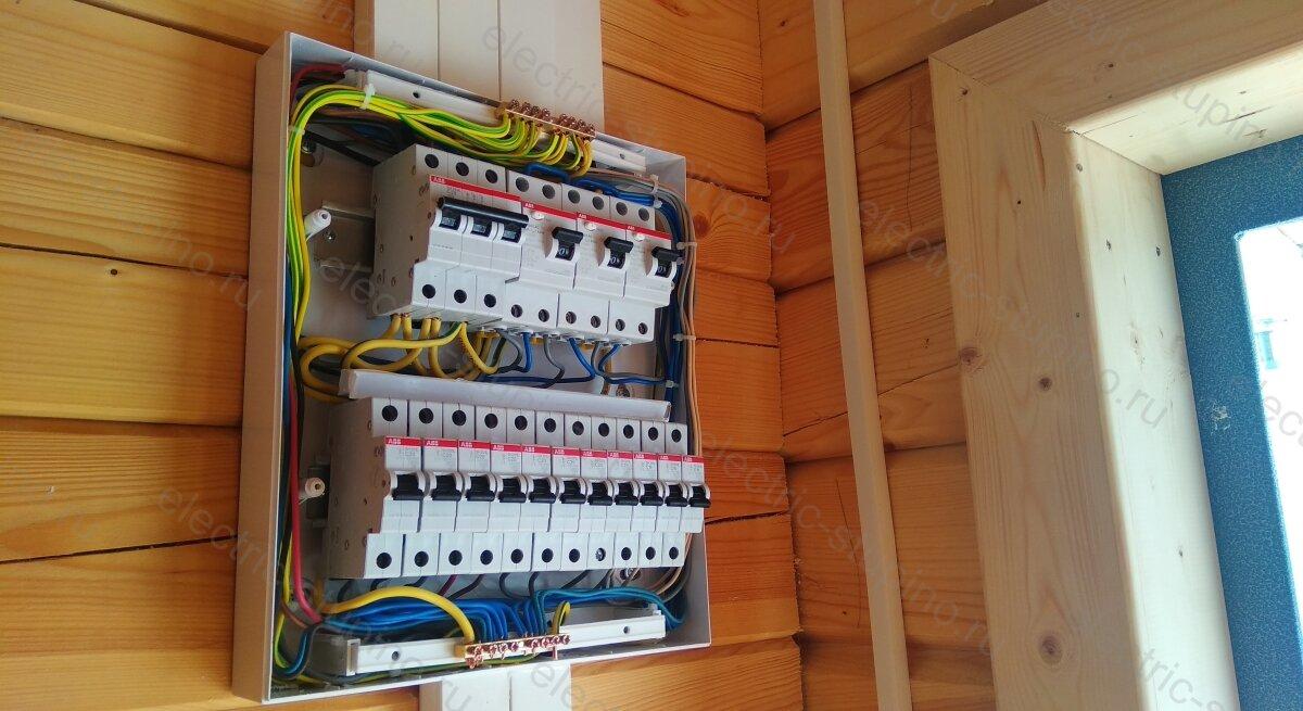 Электрощит 24 модуля в деревянном доме