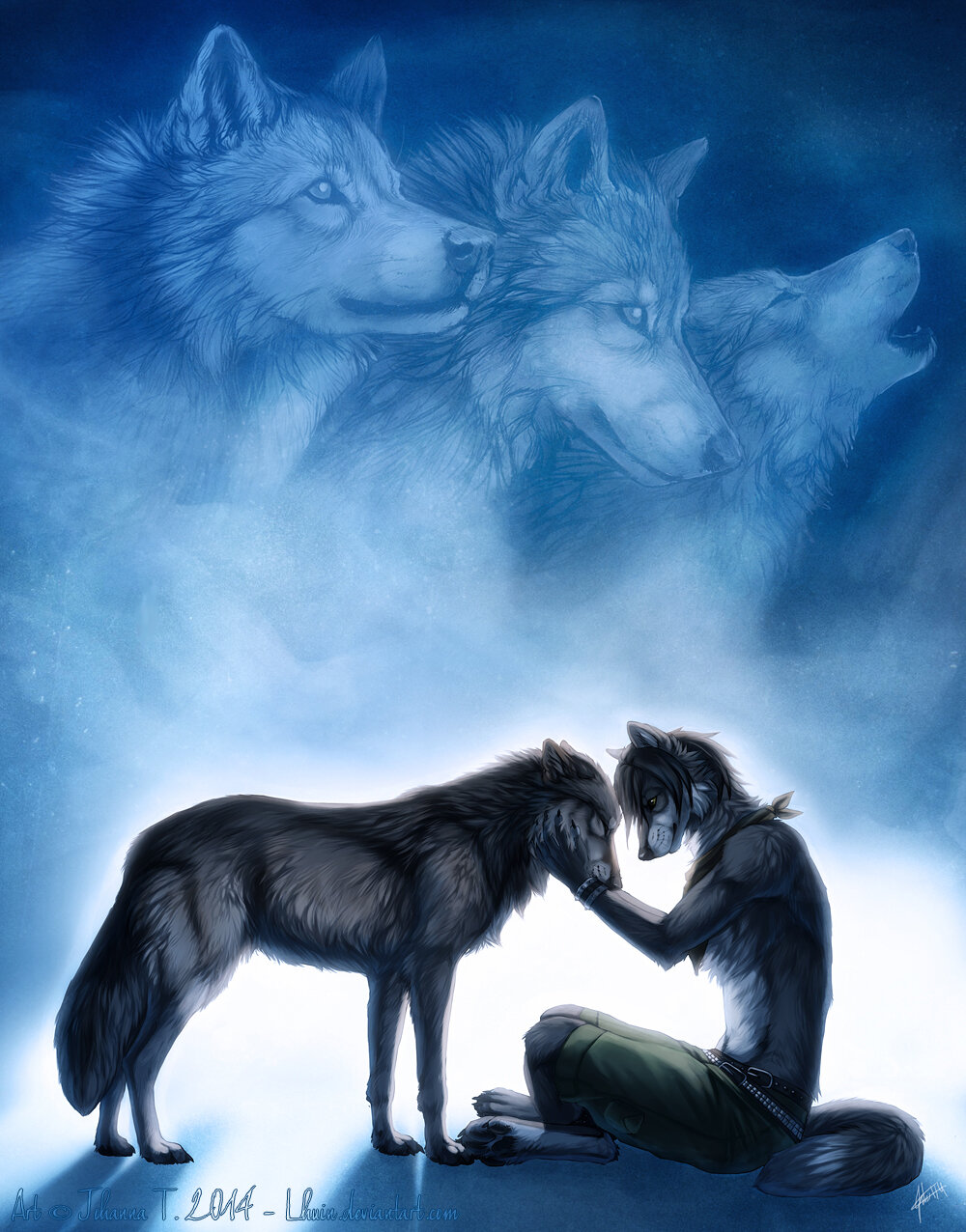 картинки с волками с чем-нибудь