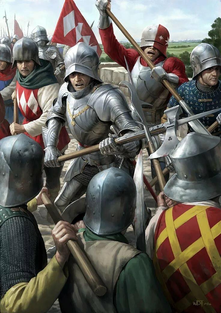 того что картинки про средневековых воинов означает, что перед