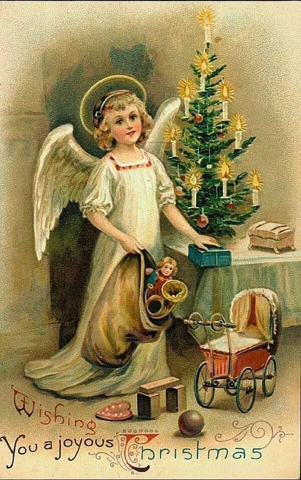 новогодние картинки и рождественские в ретро стиле полета
