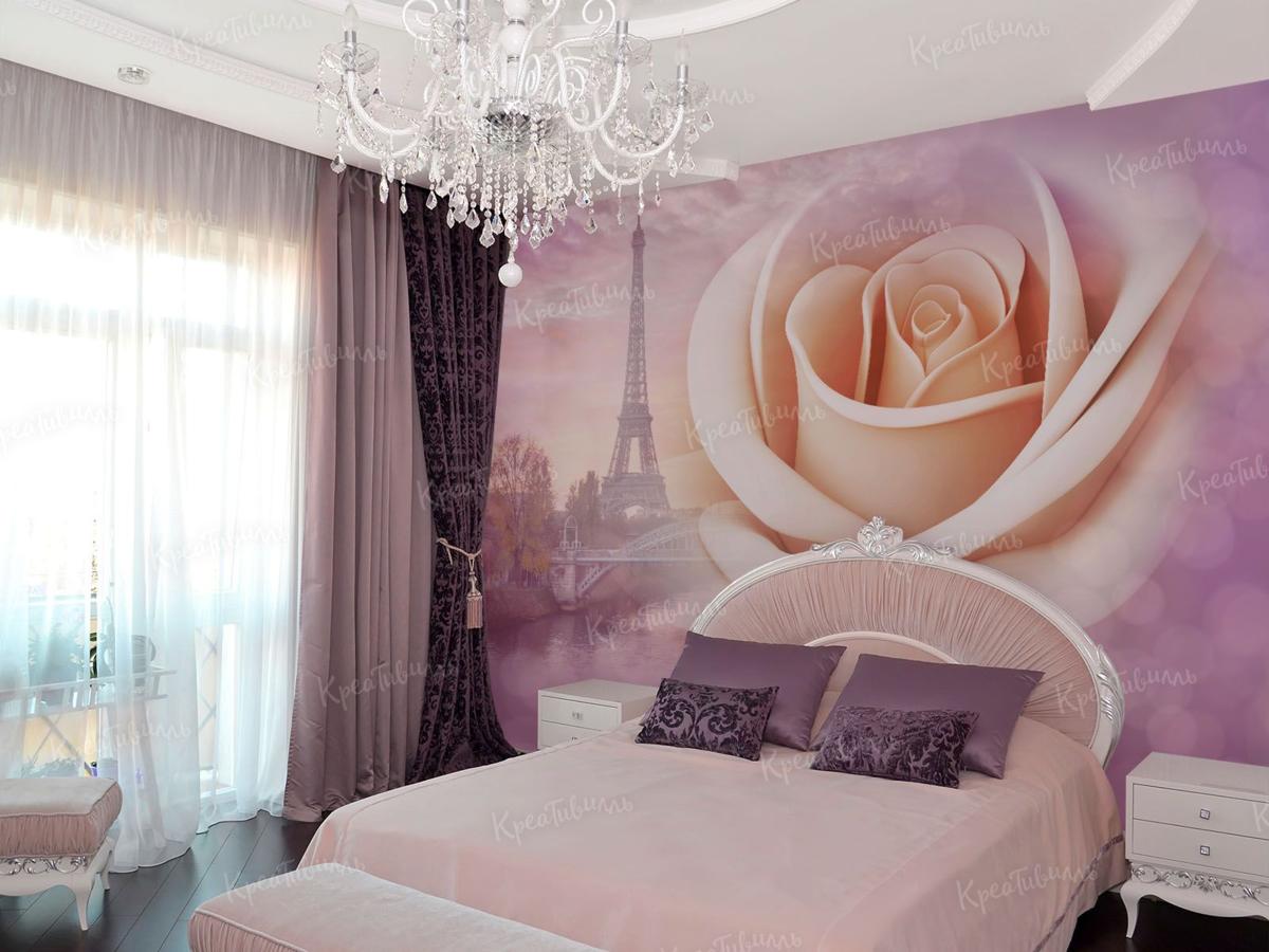 фотообои розы для спальни над кроватью нас овалы