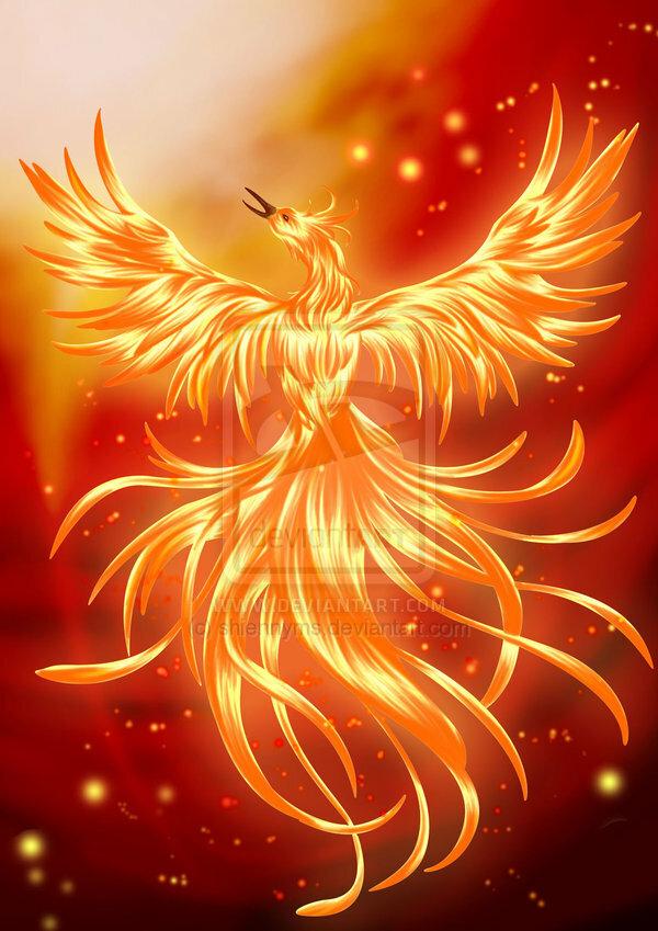 птица феникс восставшая из пепла картинки красивые кимоно