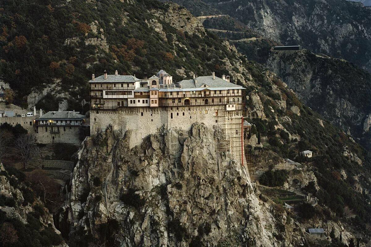 теперь гора афон в греции монастырь фото наших наборов