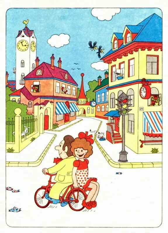 Картинки детям улицы города