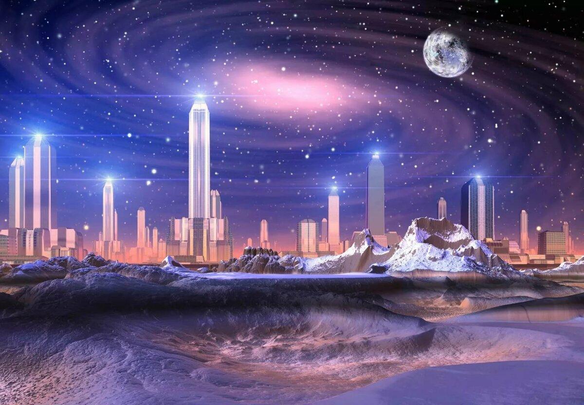 Космический город в картинках