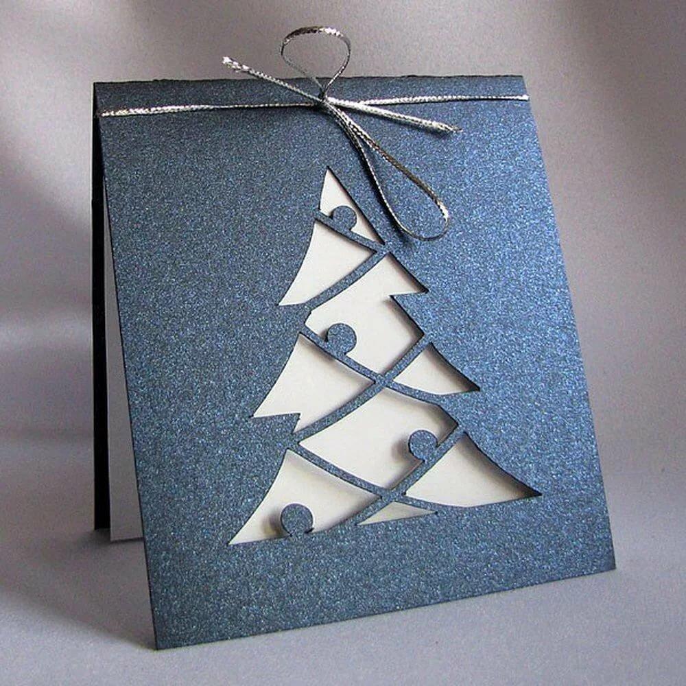Самодельные открытки к новому году из бумаги