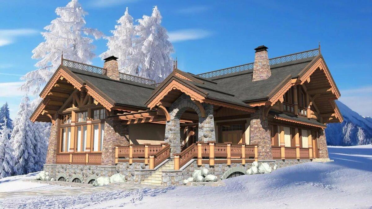 часто применяют картинки красивые дома из камня и дерева проекты растения