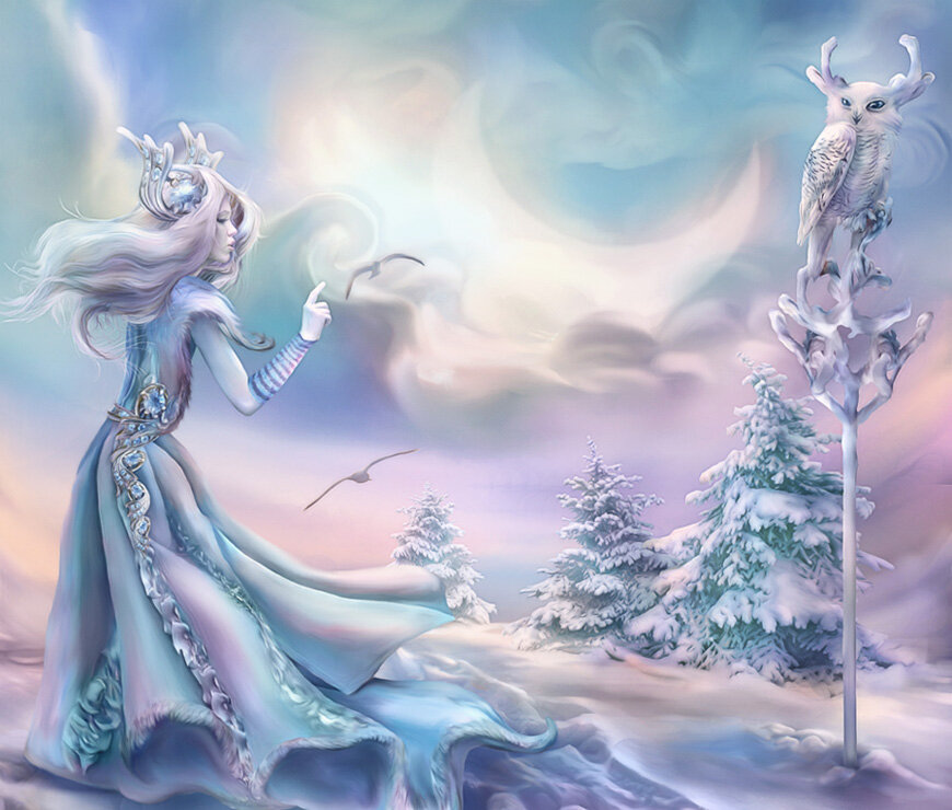 образ зимы в картинках волшебница зима картинки мой