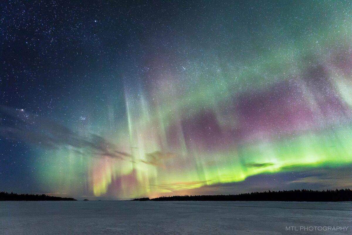 картинки северного сияния зимой что
