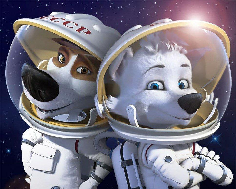 Картинки о животных-космонавтах