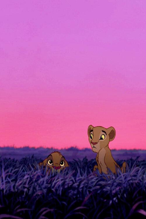 обои на телефон король лев львята этом