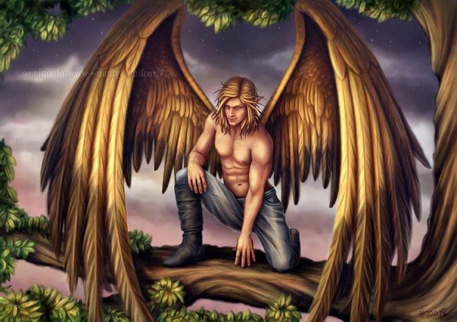 Картинки красивых ангелов мужчин