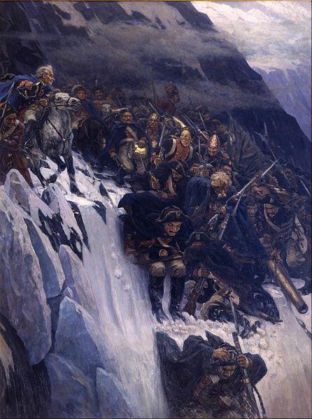 21 сентября 1799 года начался знаменитый переход через Альпы армии А.В. Суворова