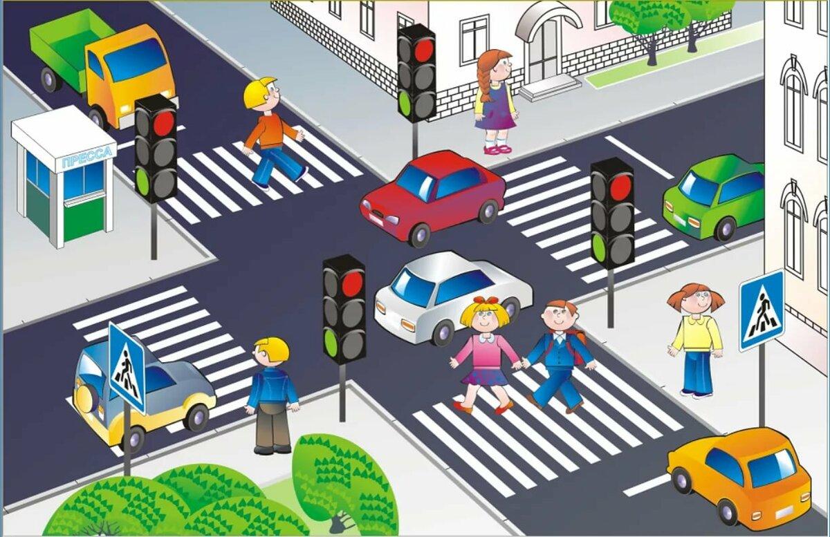 Картинка дороги по пдд в детском саду