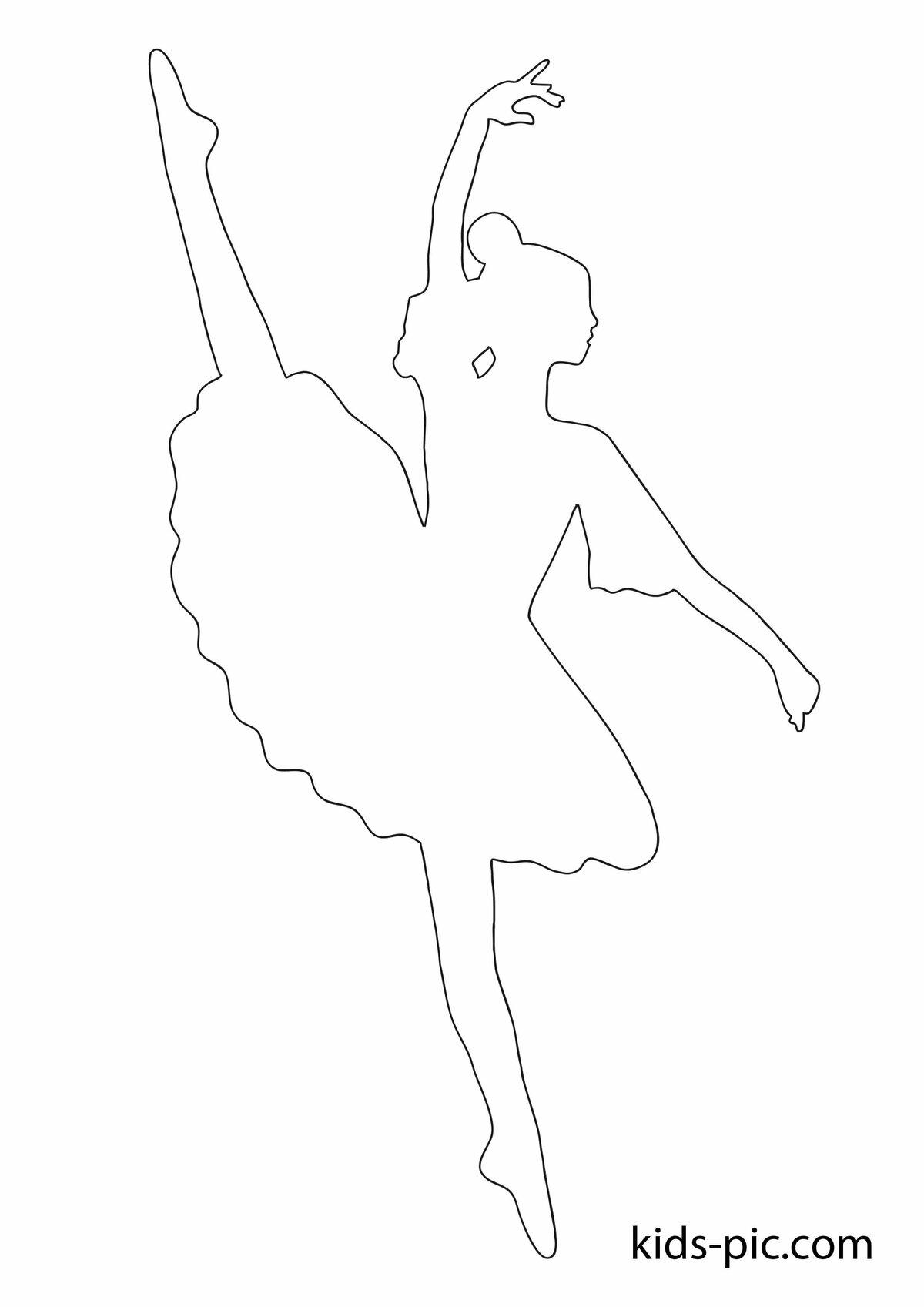 Картинки шаблонов балерина
