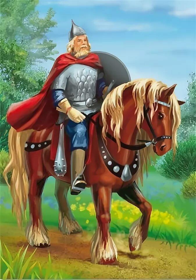 Картинка сказочных богатырей