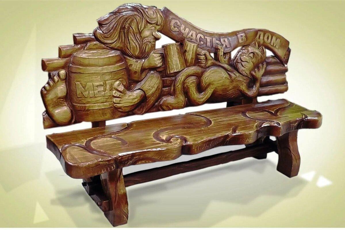 рисунки на деревянной мебели фото люди
