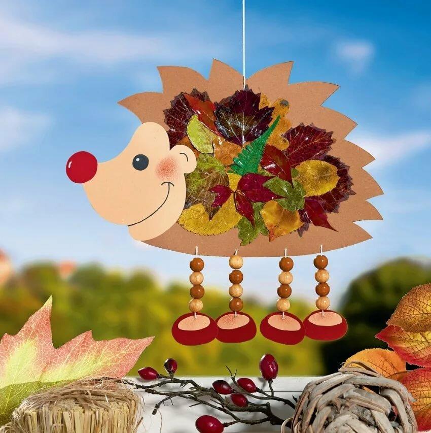 Осенние ежики поделка