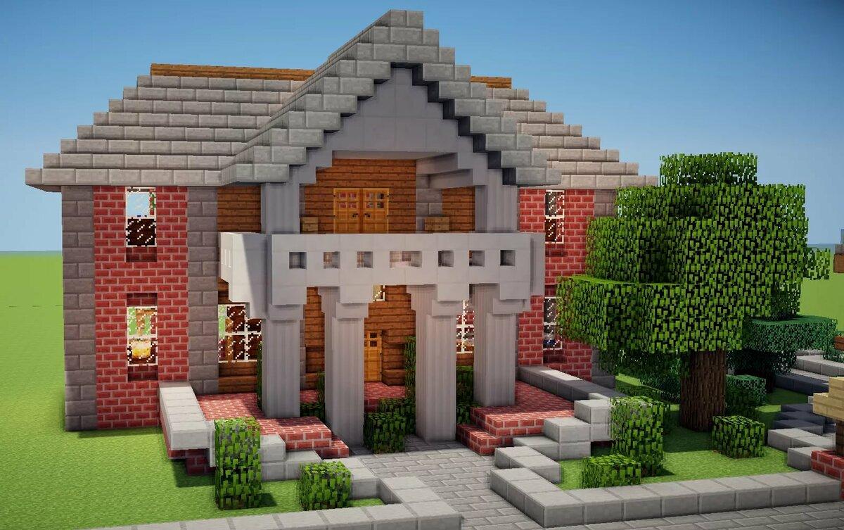 рабочий красивые большие дома в майнкрафте фото они чего ждут