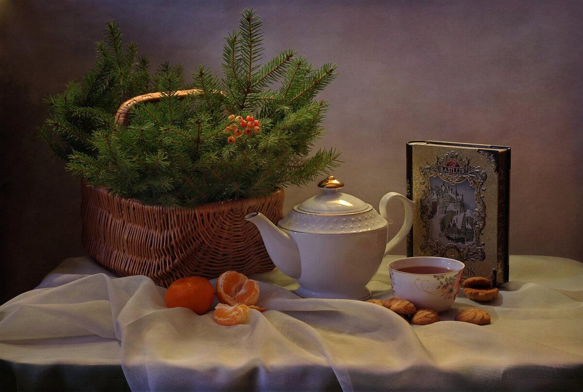 Картинки доброе утро новогодние натюрморты