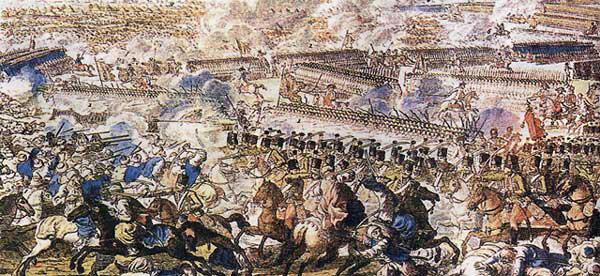 Сражение при Рымнике. Гравюра Х. Г. Шютца, Австрия. Кон. XVIII в. Бумага, гравюра, акварель