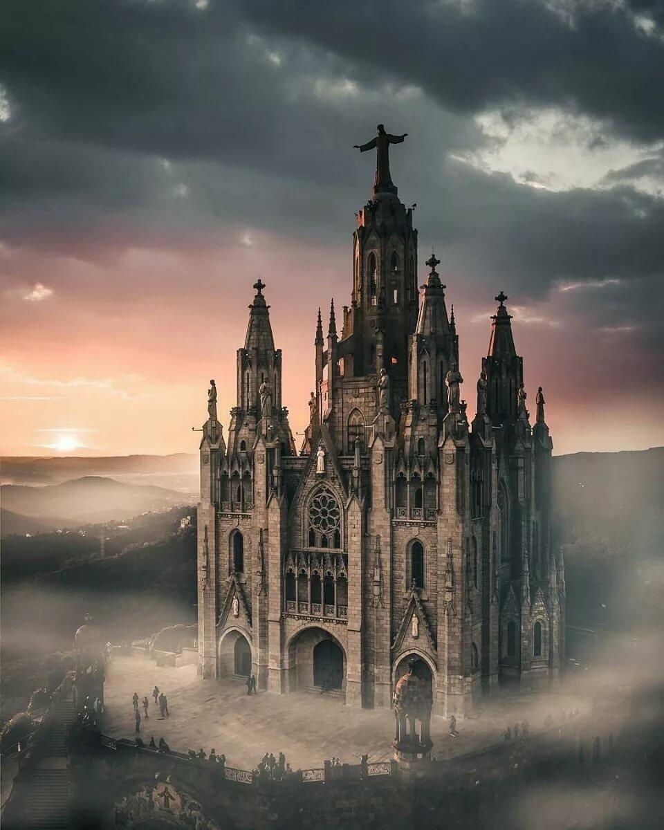 Картинка замка в готическом стиле