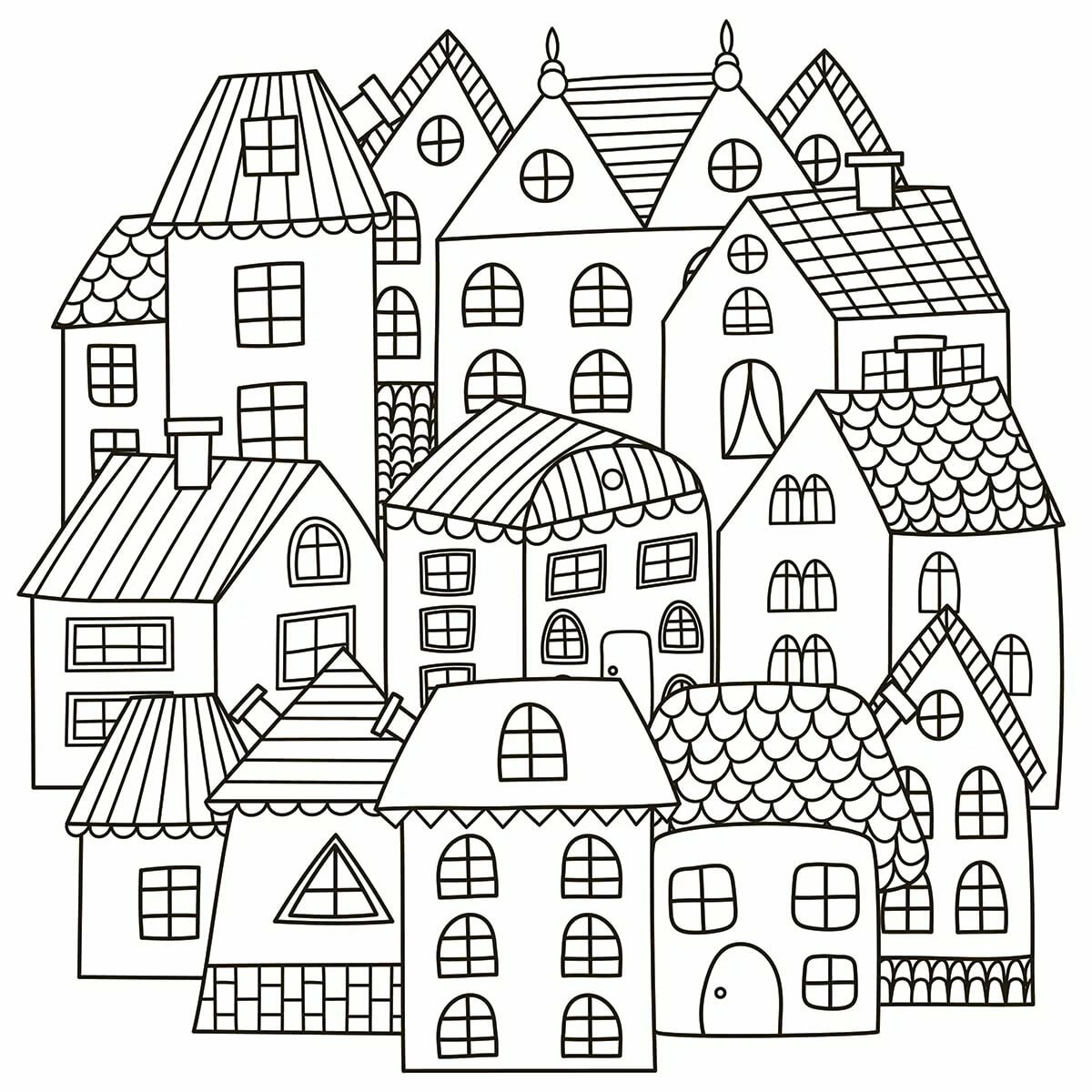 Картинка дома из разукрашки