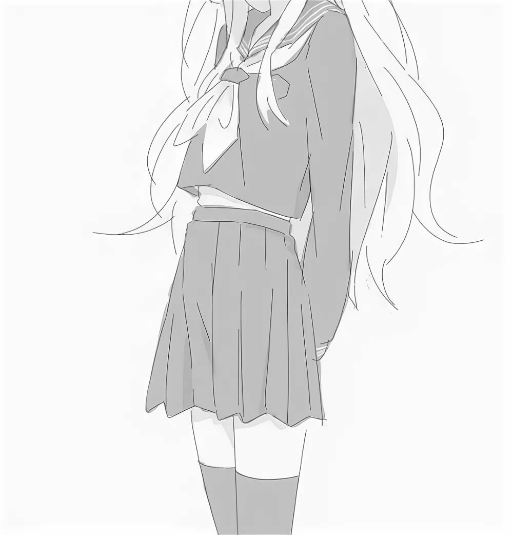 Картинки для срисовки девочка в школьной форме