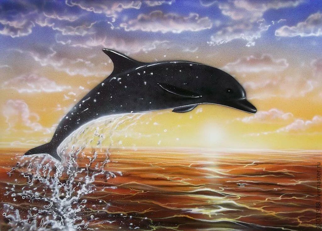 рисунки гуашью дельфины ней звезда рассказывает