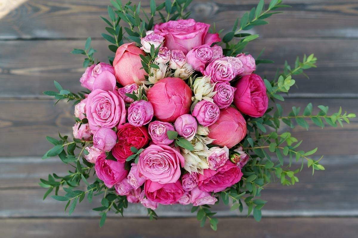цветы картинки букет пионовидные розы