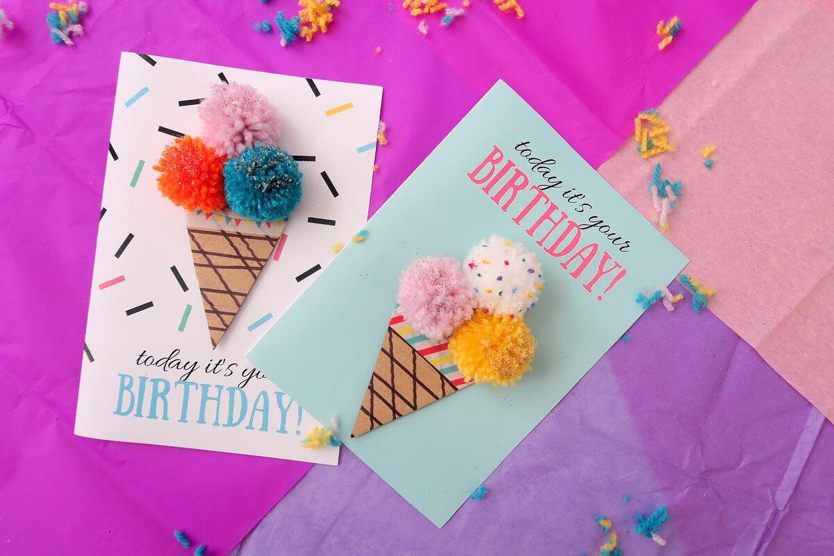 как сделать открытку на день рождения для лучшей подруги