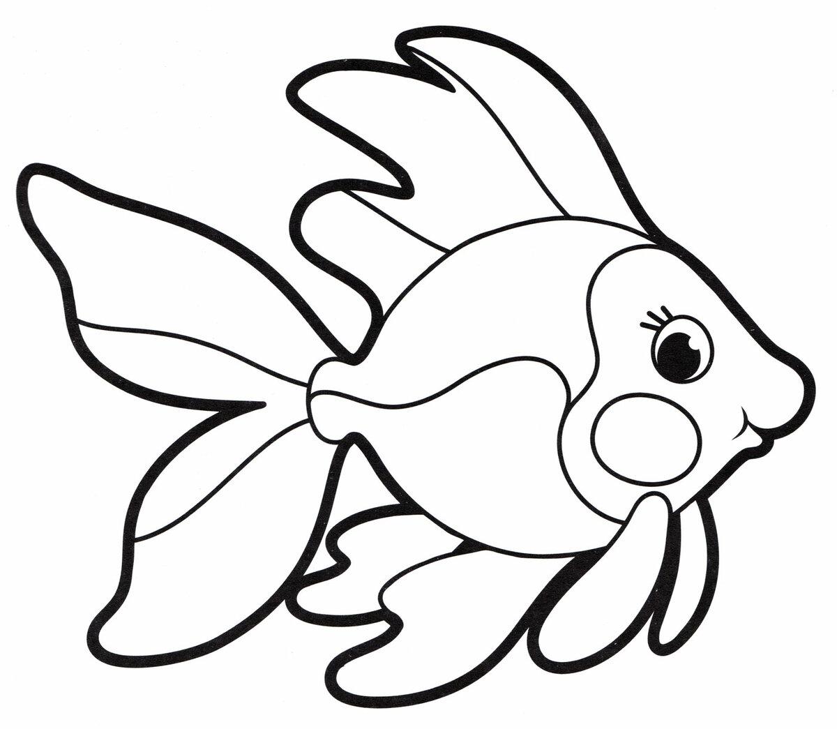 «Раскраска Рыбка - распечатать бесплатно» — карточка ...