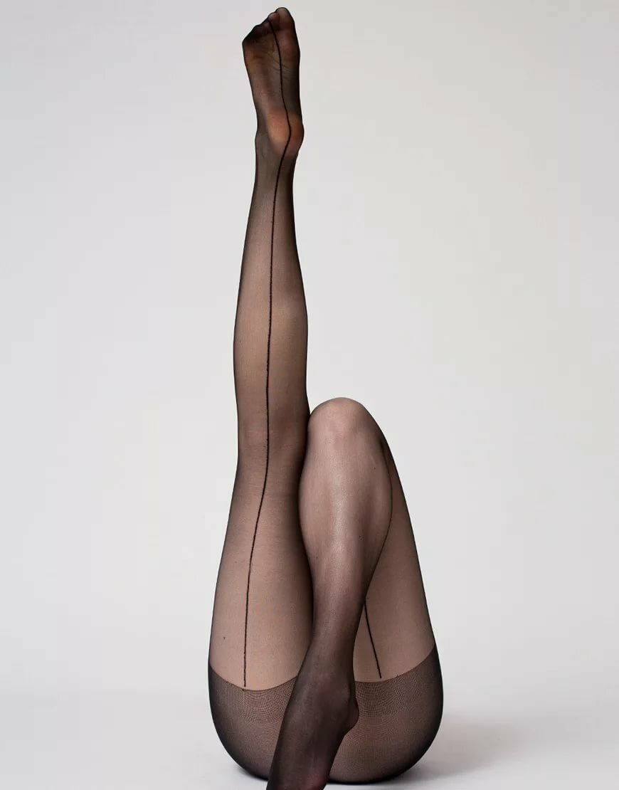 Sexy stylish legs female wearing black stock photo