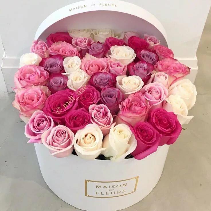 Картинки с др цветы в коробке