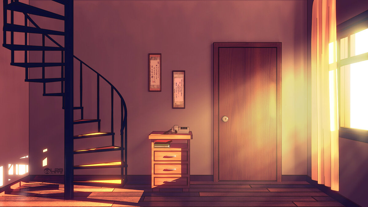 Картинки аниме дверь