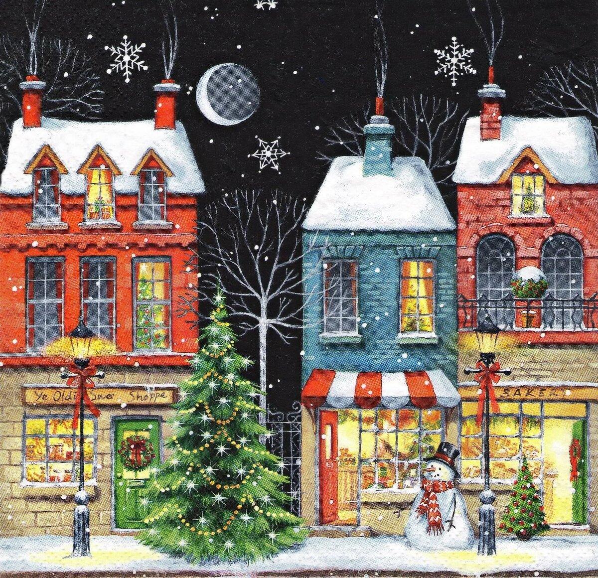 Дом из открыток на новый год