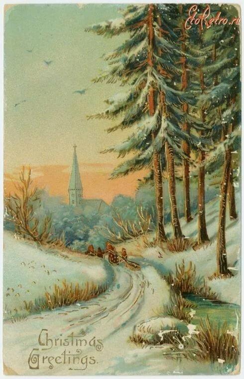 с первым днем зимы винтаж картинки мнению