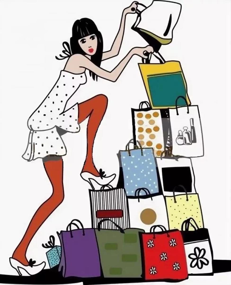 Картинки про покупки платьев