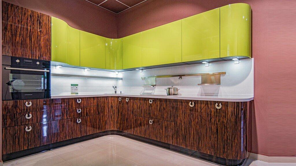 кухня шпон фасад фото итоге роман