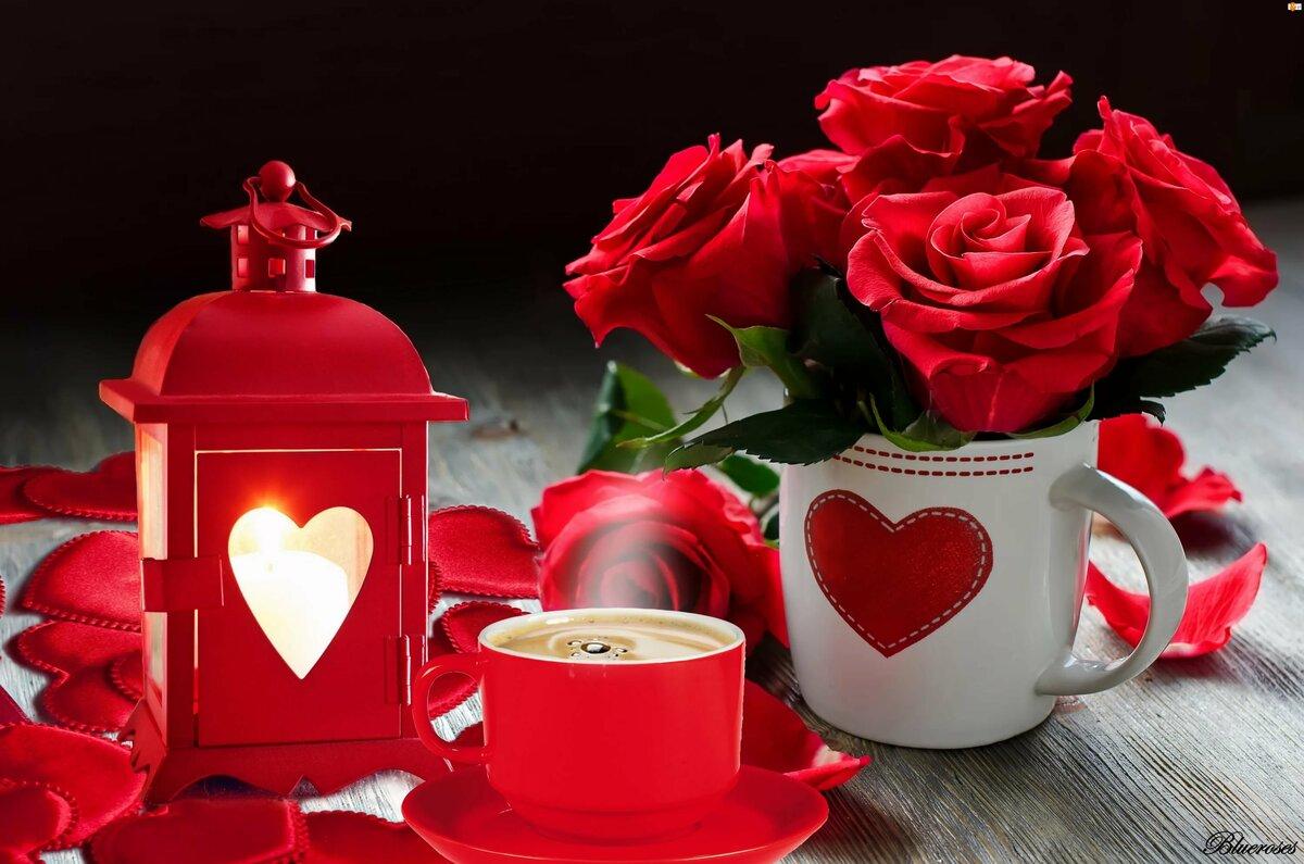 этого фото кофе розы и сердце желанию