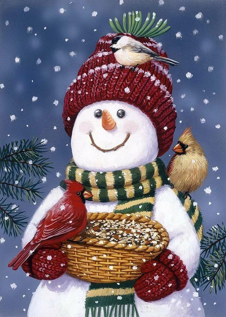 Новогодние картинки снеговики для декупажа
