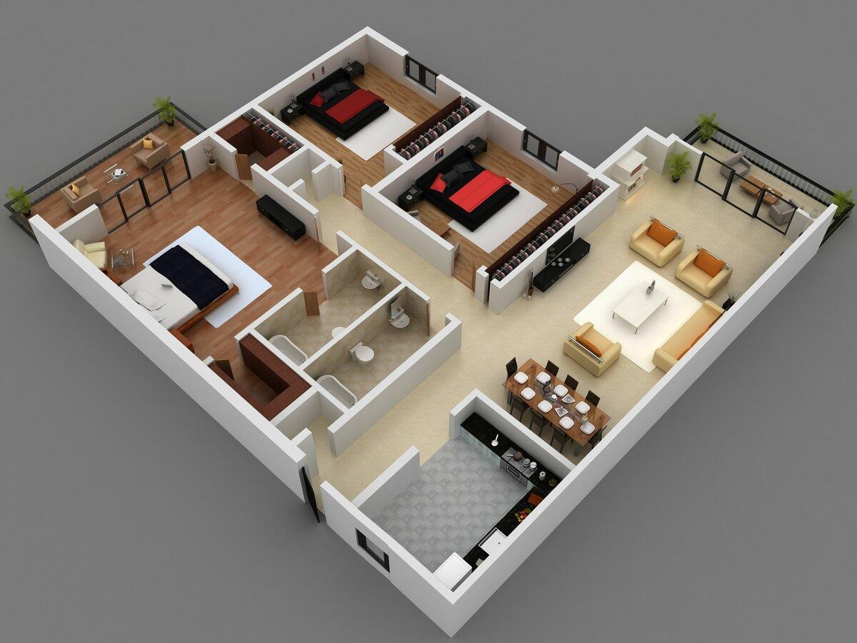 Картинки проекты квартир